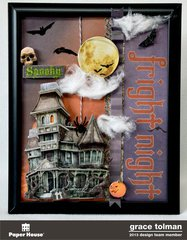 Fright Night Altered Frame *Paper House*