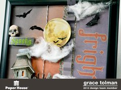 Fright Night Altered Frame *Paper House* 2