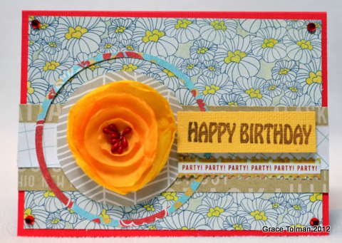 Happy Birthday card *Paper Bakery August Add On kit*