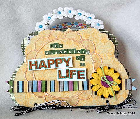 Happy life mini album*Clear Scraps*