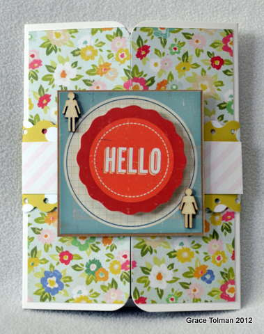 Hello card *Paper Bakery May Add On kit*