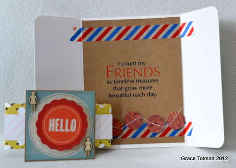 Hello card *Paper Bakery May Add On kit* inside view