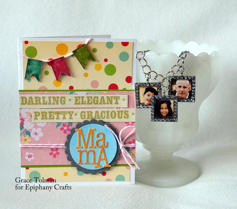 Mama card + Photo bracelet *Epiphany Crafts*