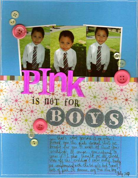Pink is not for boys