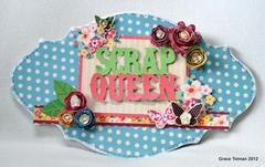 Scrap Queen board *My Little Shoebox*
