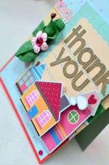 Thank you card *My Little Shoebox* close up
