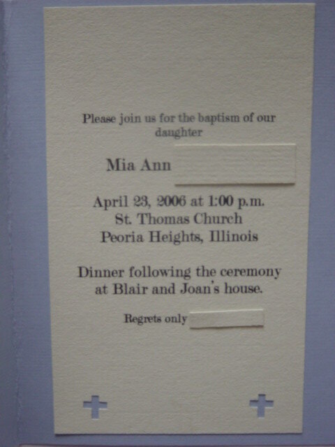 Baptism card 2