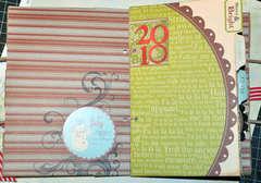Paper Bag Christmas Organizer - interior
