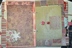 Paper Bag Christmas Organizer - Inside