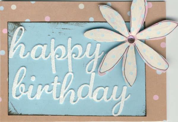 Junkitz Shabby Chic Happy Birthday Card
