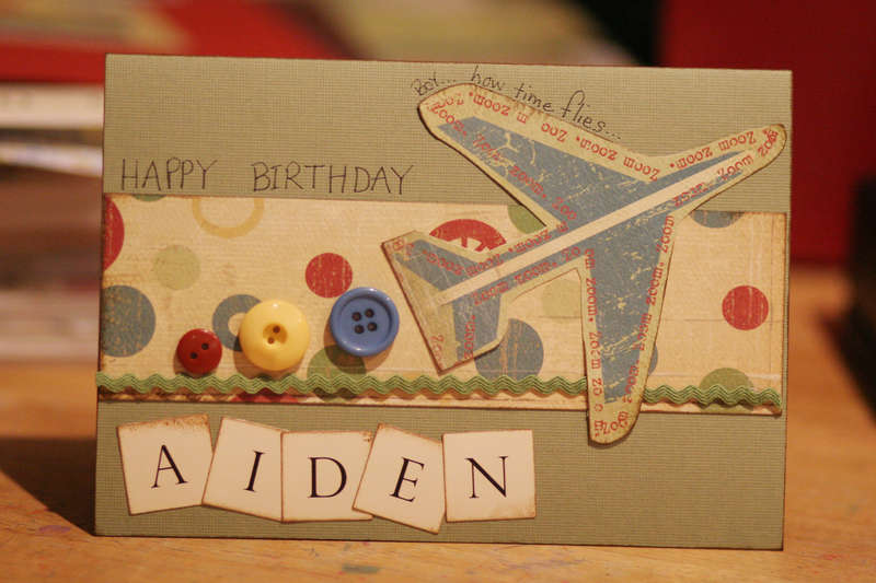 Birthday card for Aiden