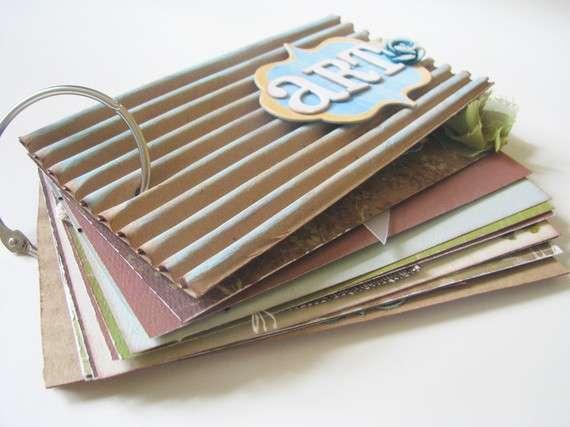 Recycled Art Journal/Scrapbook Mini