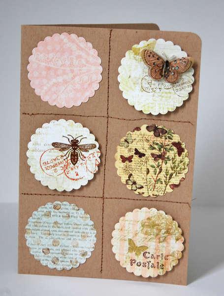 Carte Postale *Pink Paislee Butterfly Garden*