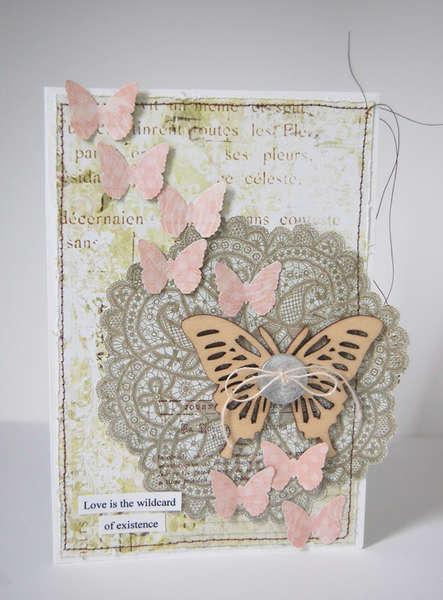 Wild Card *Pink Paislee Butterfly Garden*