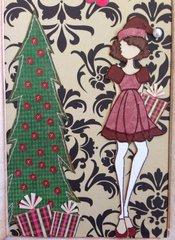 Opening door Christmas card - inside