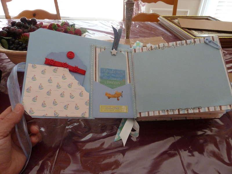 Baby Boy Chipboard mini Scrapbook