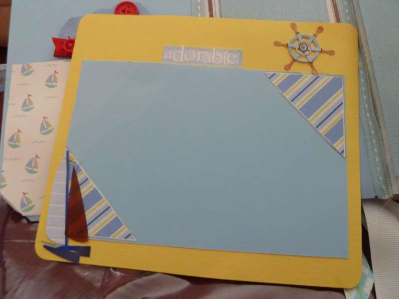 Baby Boy Chipboard mini Scrapbook