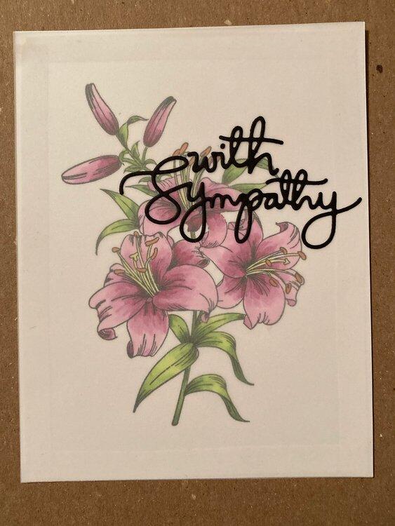 Sympathy - Lilies