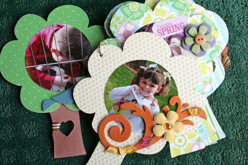 Maya Road New Tree Chipboard Book Pages