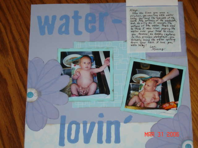 Water Baby page 1 open
