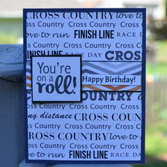 Cross Country Birthday card