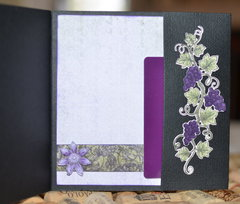 Gift card holder inside