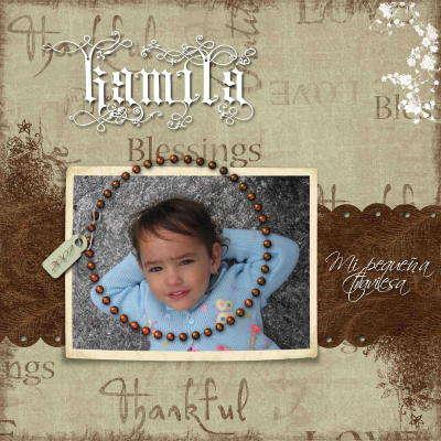 Kamila...mi pequeña traviesa