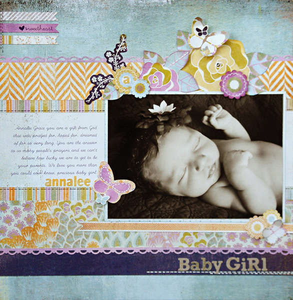"*Baby Girl"" NEW BasicGrey PLUMERIA"