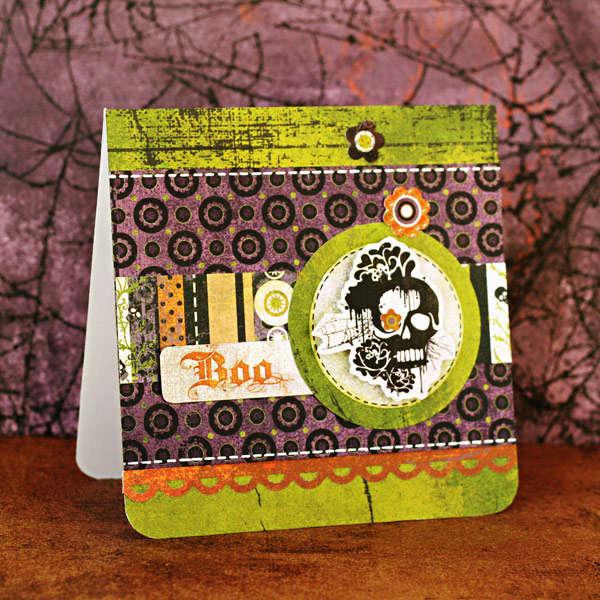 *Boo* Skull Card