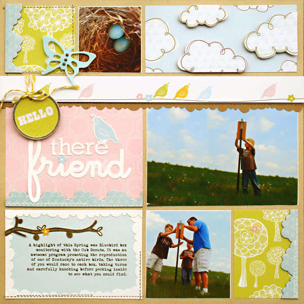 *Hello There Friend* Scrapbook & Cards Today Summer '11