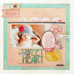 *Tweetheart* PINK CHALLENGE NEW BasicGrey PAPER COTTAGE