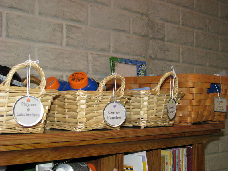 Basket Storage for Tools