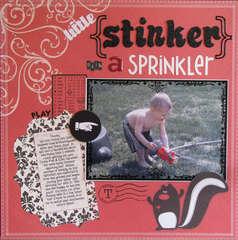 Little Stinker With A Sprinkler
