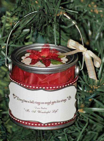 Christmas Mini Paint Can Gifts