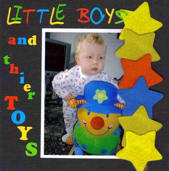little boys and there toys