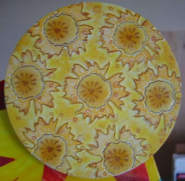 Handmade chipboard pieces