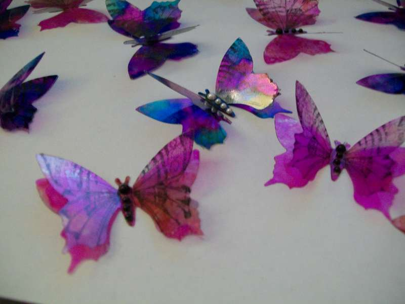 Acohol Ink Butterflies
