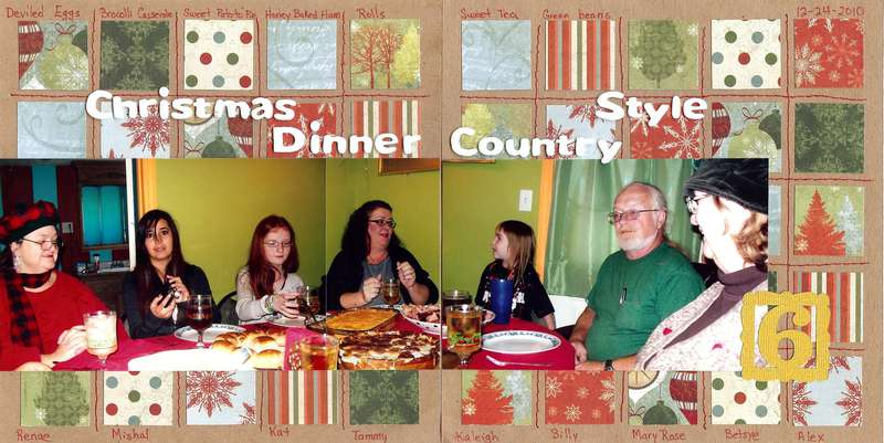 Christmas Dinner Country Style