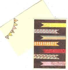 Happy Birthday Card & Envelope