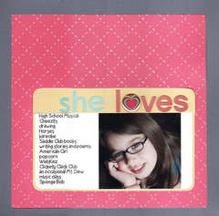 she loves...