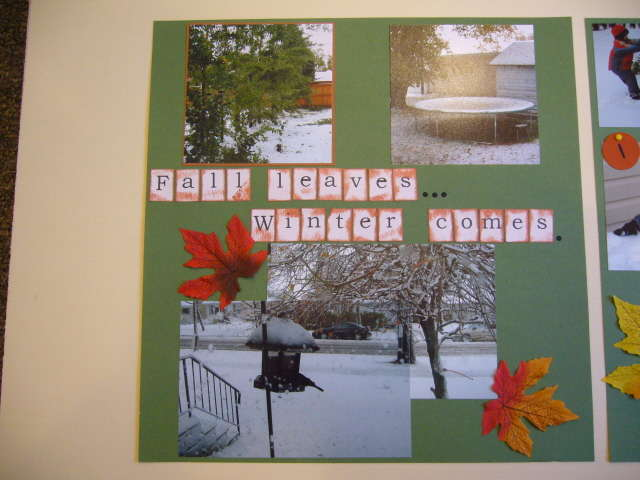 Fall leaves...Winter comes - Page 1