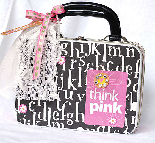 Think Pink Altered Lunchbox