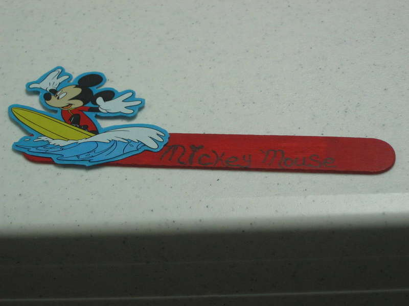Mickey Mouse Popsicle stick
