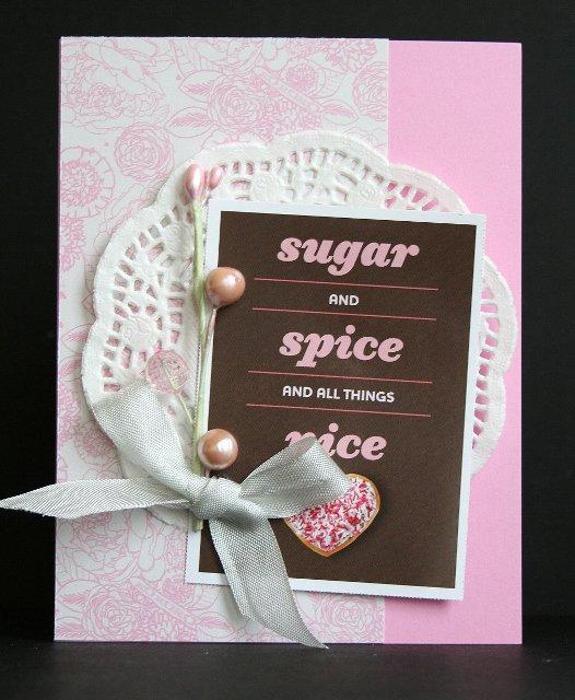 Girl Valentine card