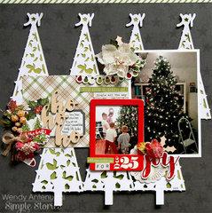 Ho Ho Ho Christmas Tree **Simple Stories DT**