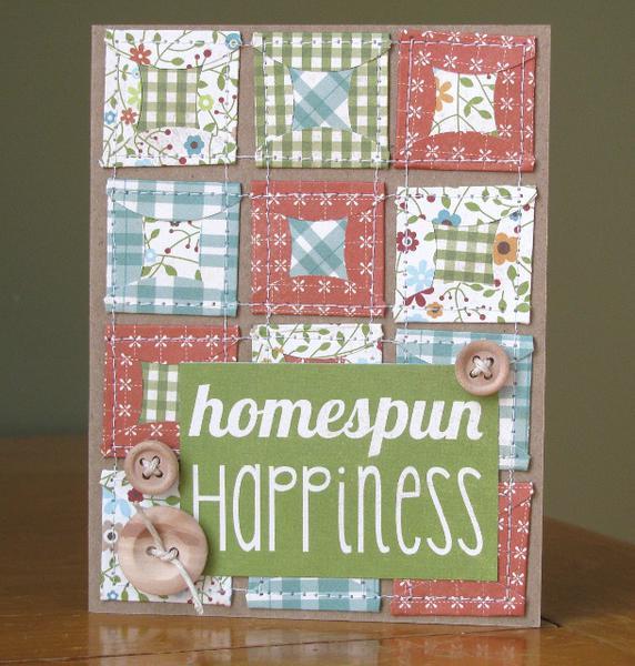 Homespun Happiness card