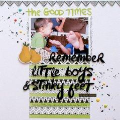 Little boys and Stinky feet