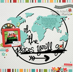 Oh the Places You'll Go **Simple Stories DT**