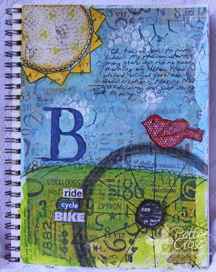 My Love of Biking {Art Journaling}