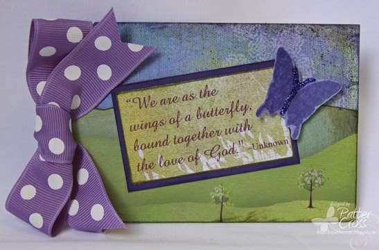 Butterfly Tag {Memory Box}